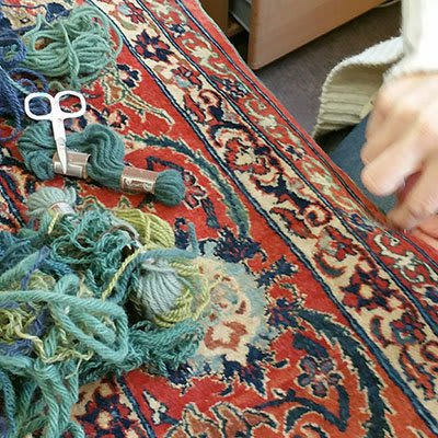 Rug repair and conservation by Haliden Oriental Carpets